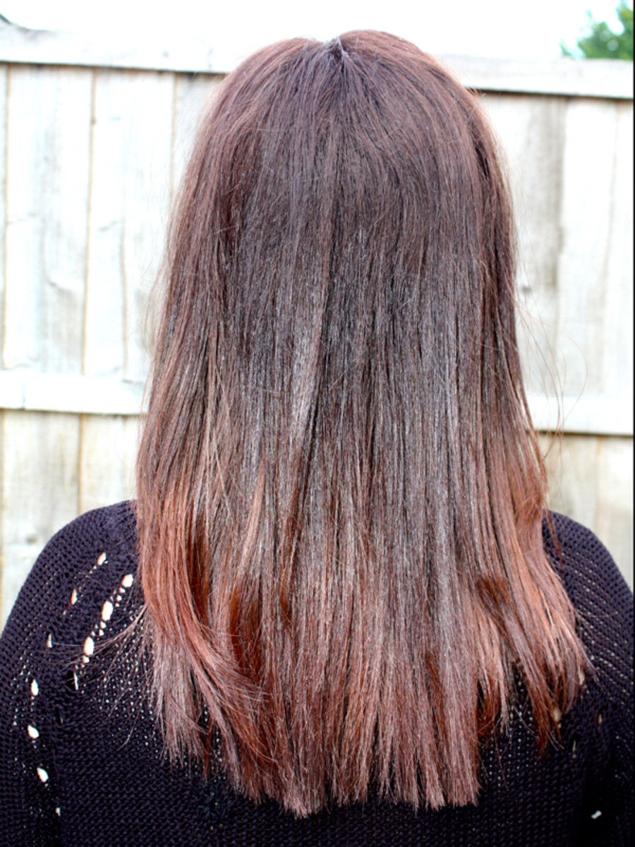 Eve hair colour after - back