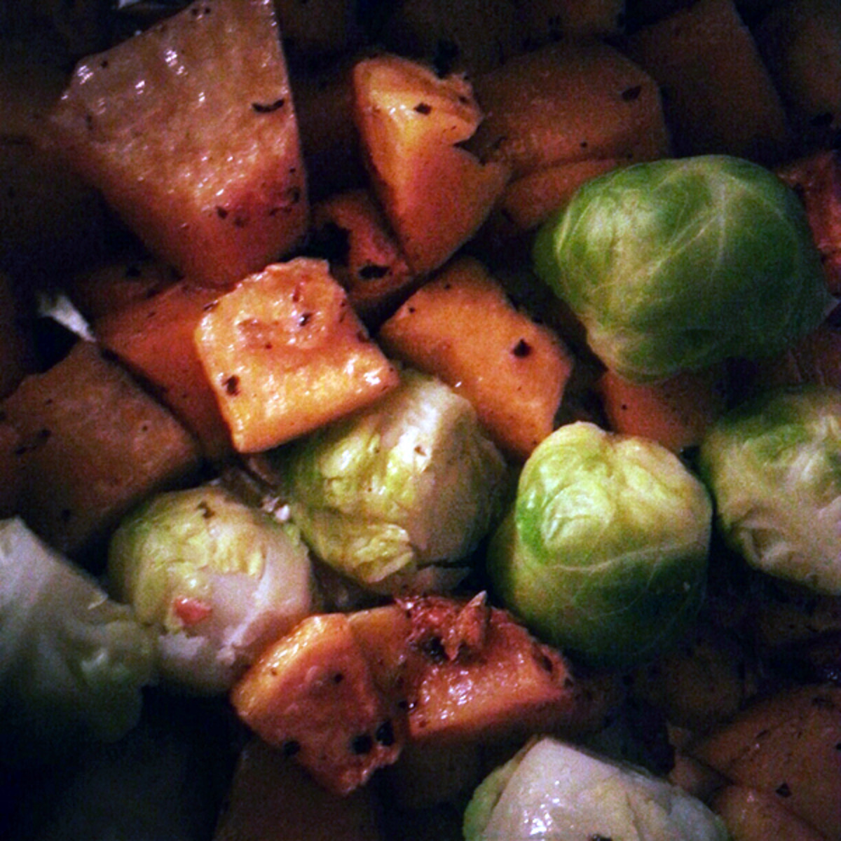 Brussel sprouts and squash