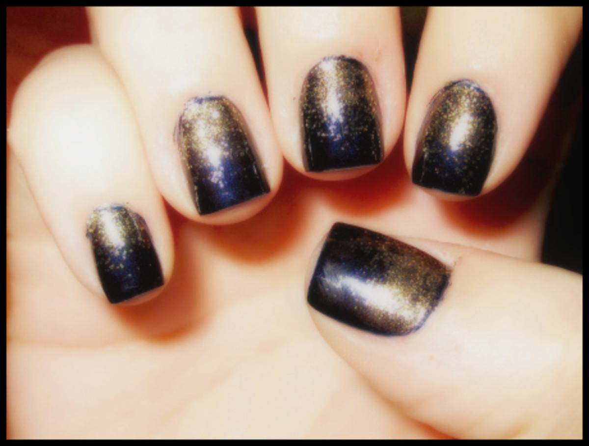 Glitter Ombre mani - step 3
