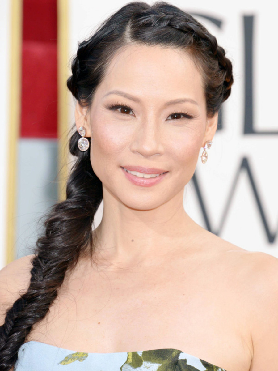 Lucy Liu - Golden Globe Awards 2013 hair