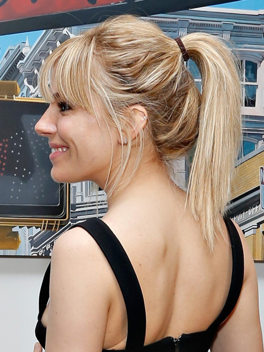 Sienna Miller - Just Like a Woman premiere, New York, June 2013 - ponytail side