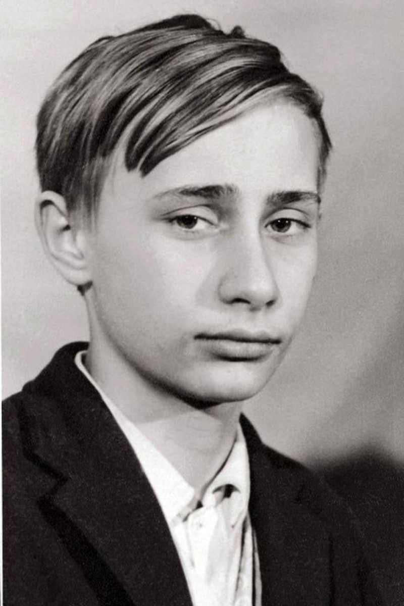 Vladimir Putin as a teenager