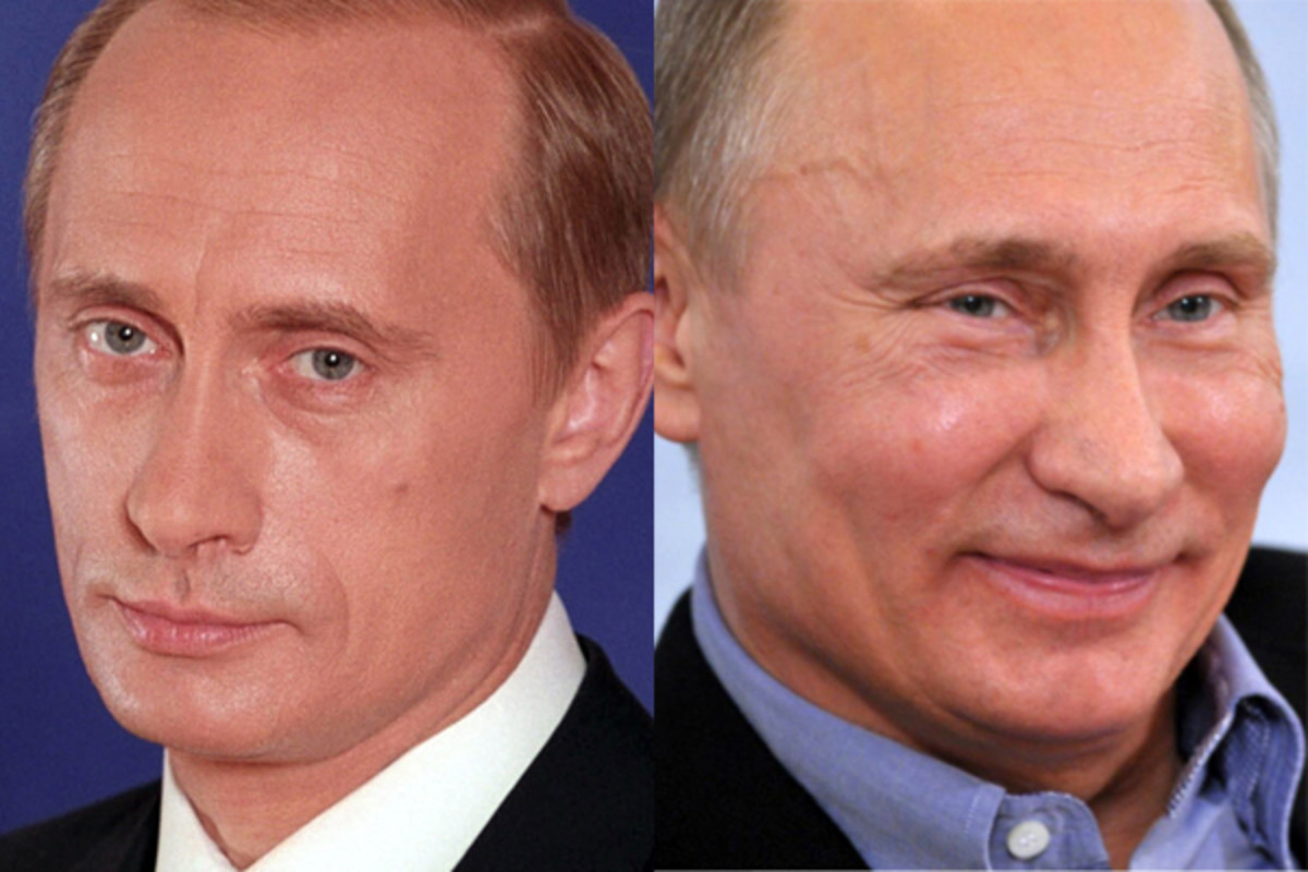 Vladimir Putin before and after