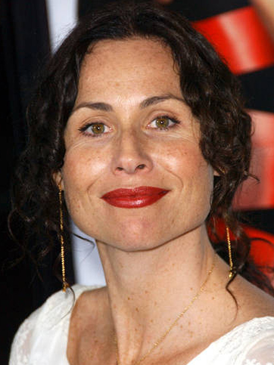 Minnie Driver pear face bangs