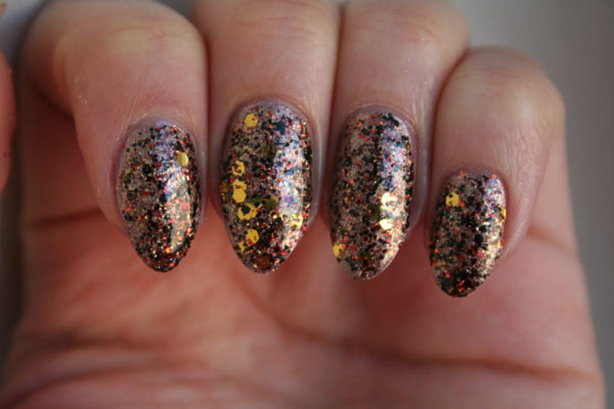 Rainbow Honey Nail Polish in Meteor