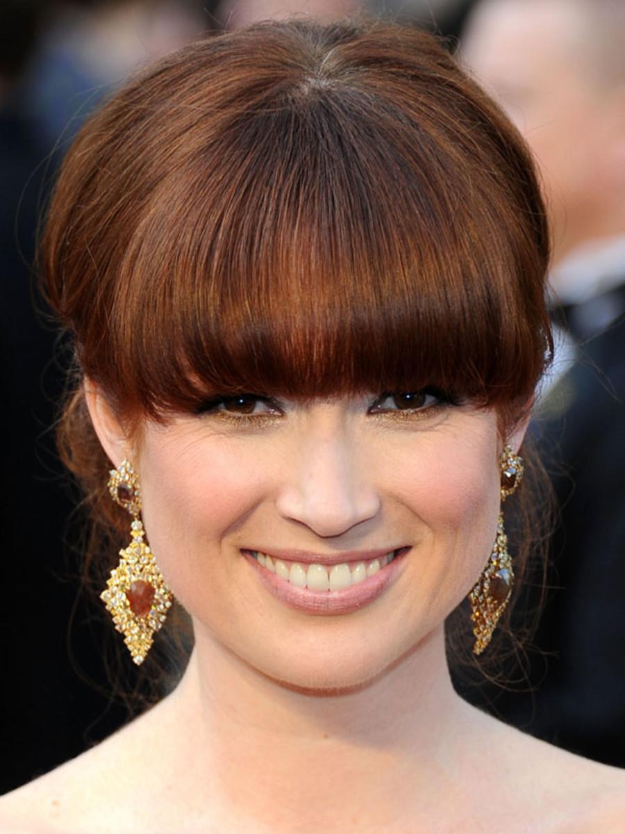 Ellie Kemper oval face bangs