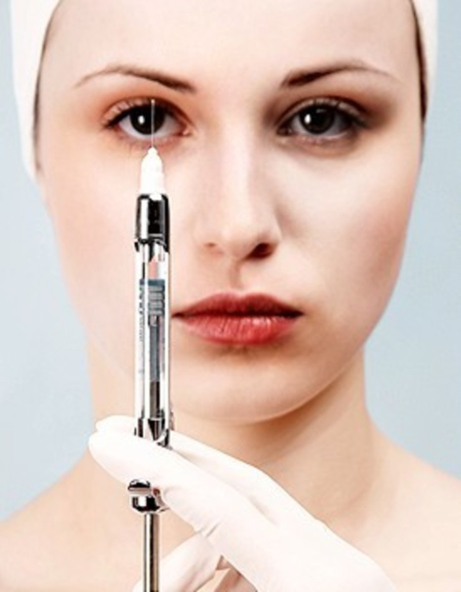 Woman with injection