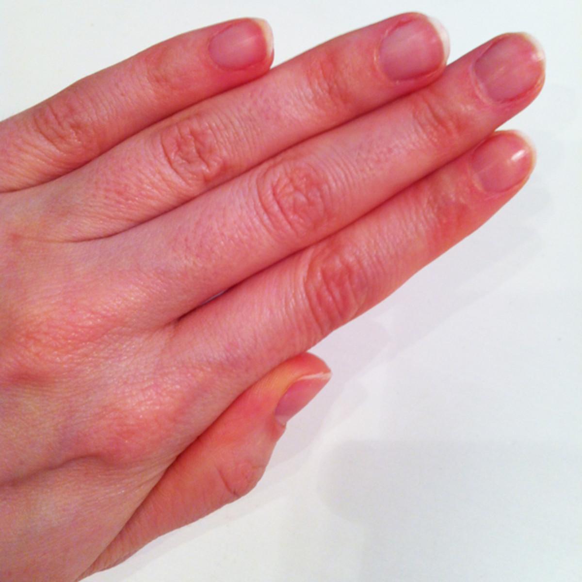 Nails before Dior Nail Glow