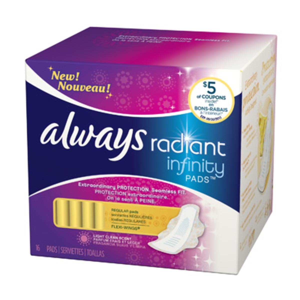 Always Radiant Infinity Pads