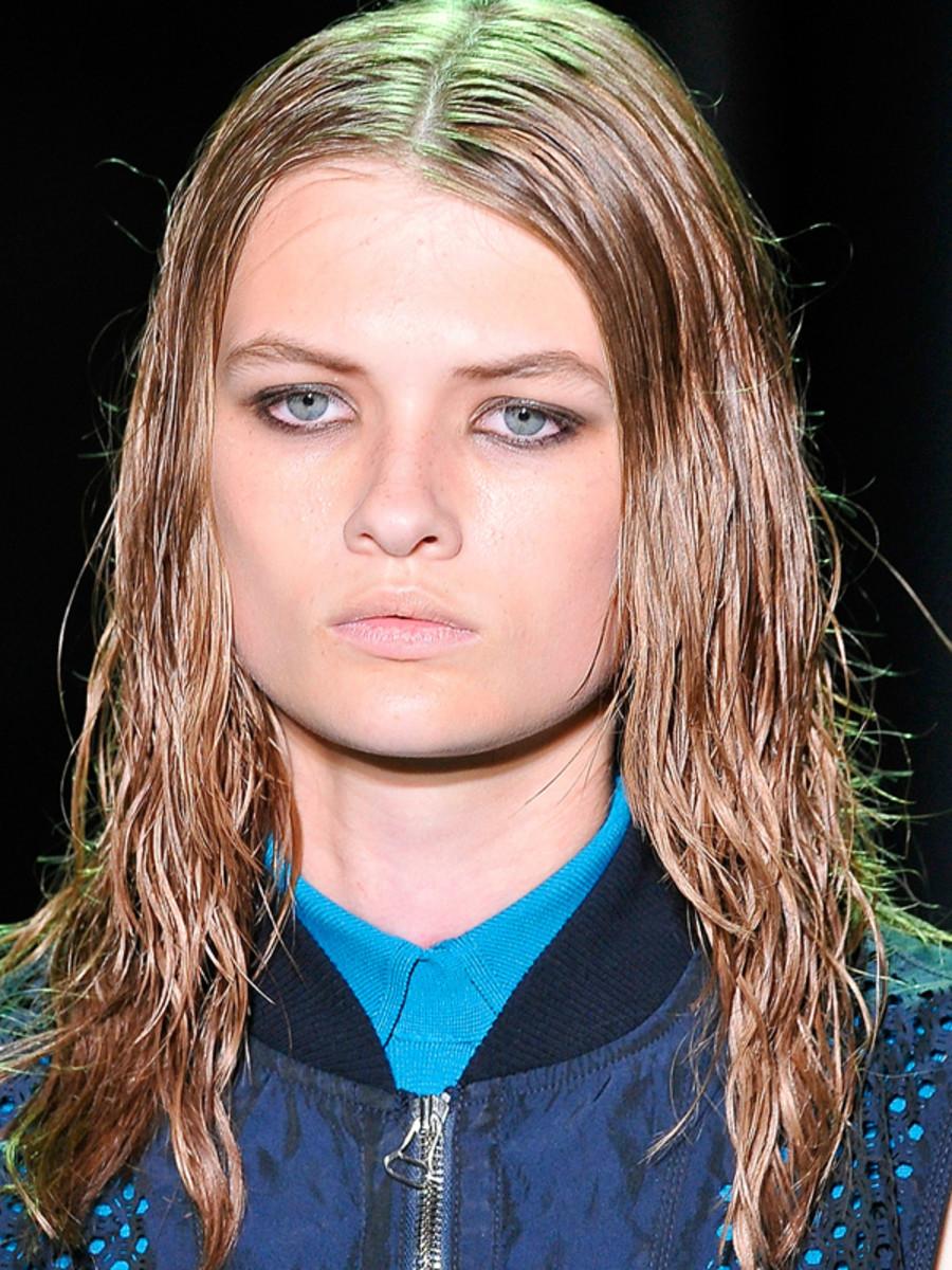 Alexander Wang - Spring 2012 wet look hair