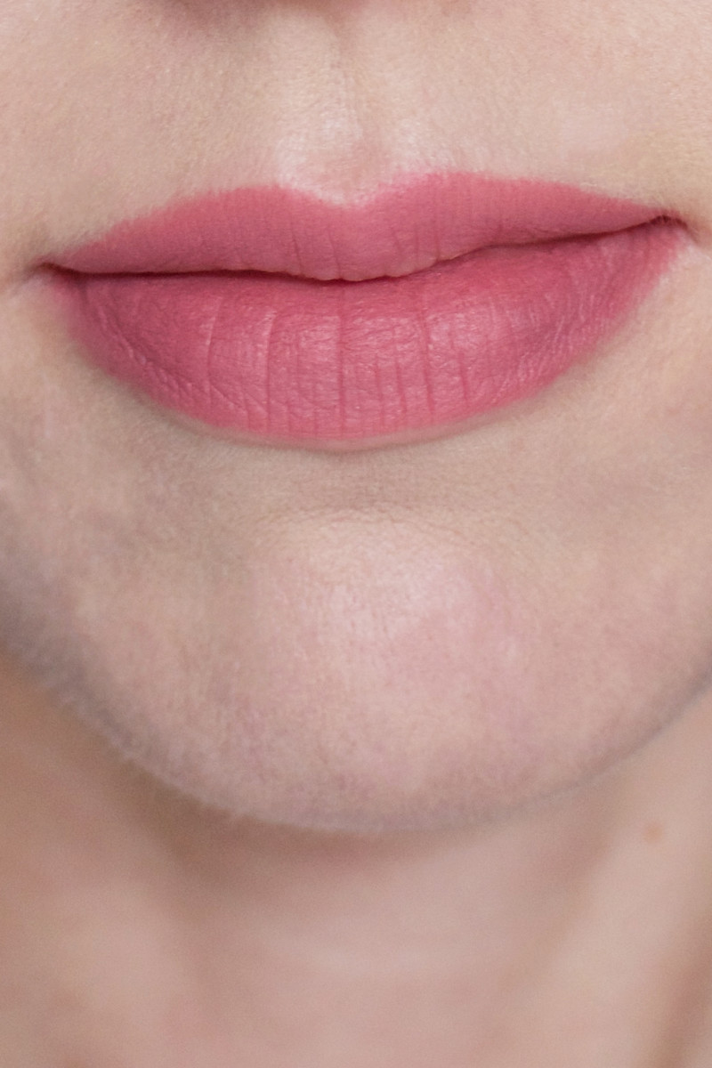 Maybelline Color Blur in 50 I Like To Mauve It (on lips)