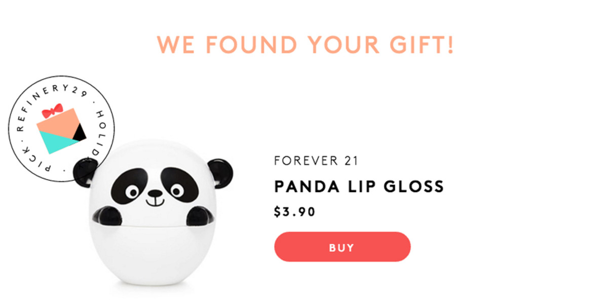 Refinery29 gift curator step 4