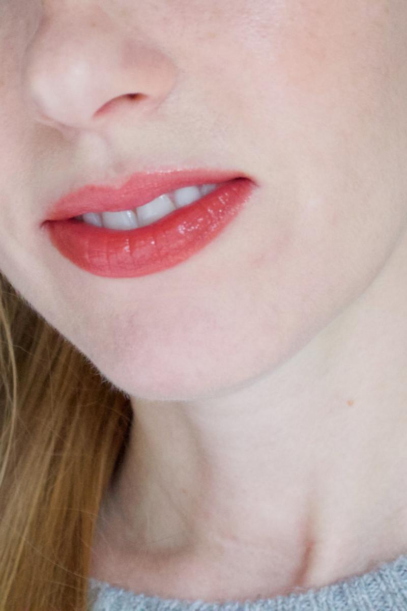 Maison Kitsune for Shu Uemura Laque Sparkler Lip Gloss in Persimmon Glow