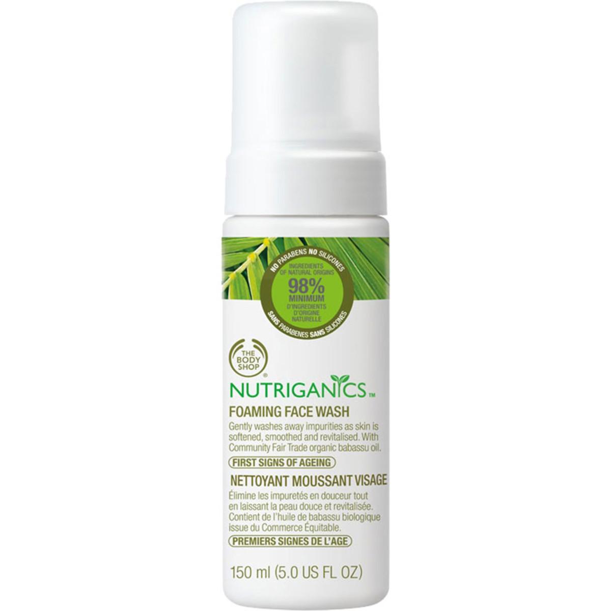 The Body Shop Nutriganics Foaming Facial Wash
