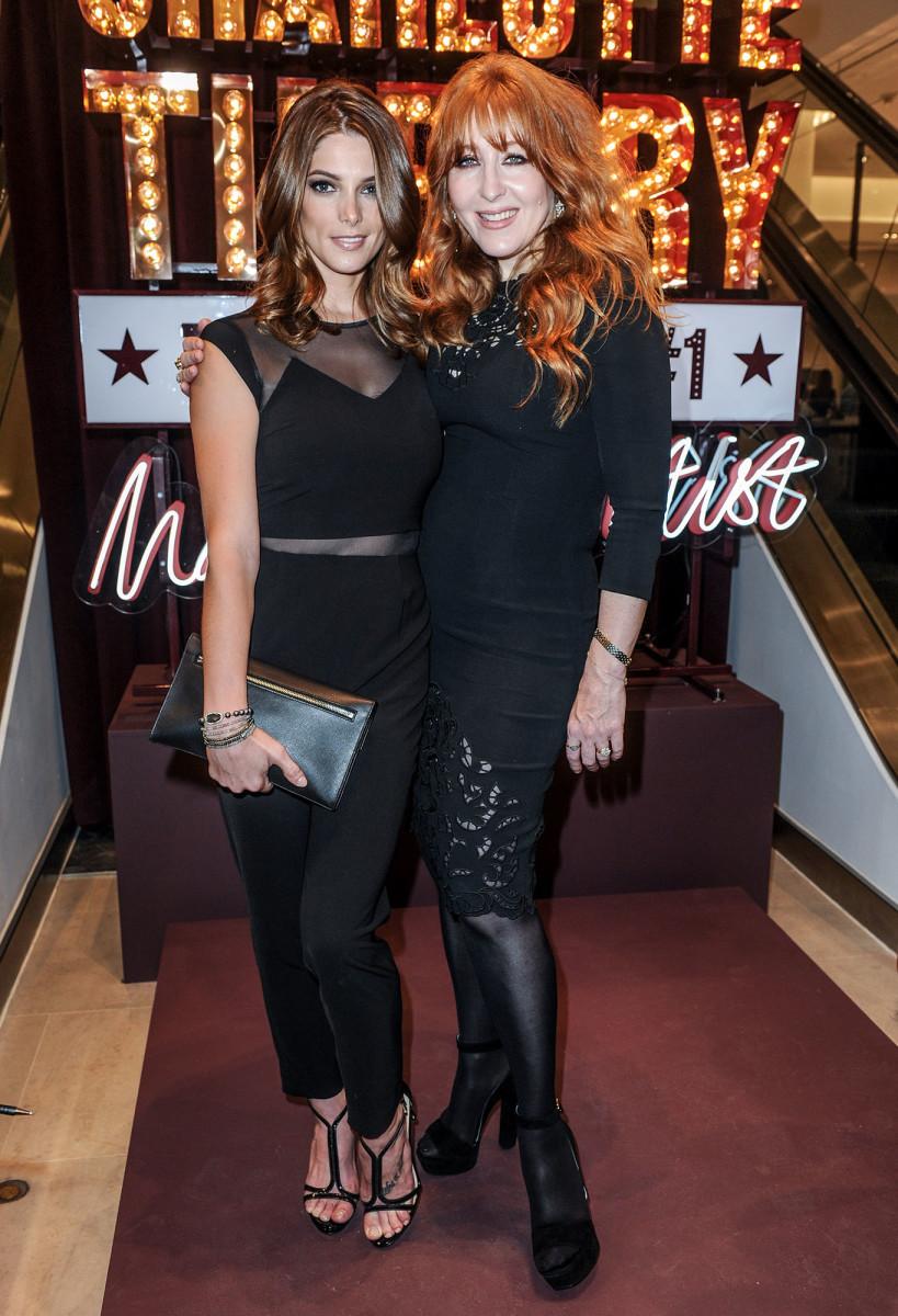 Ashley Greene and Charlotte Tilbury, Holt Renfrew, 2015
