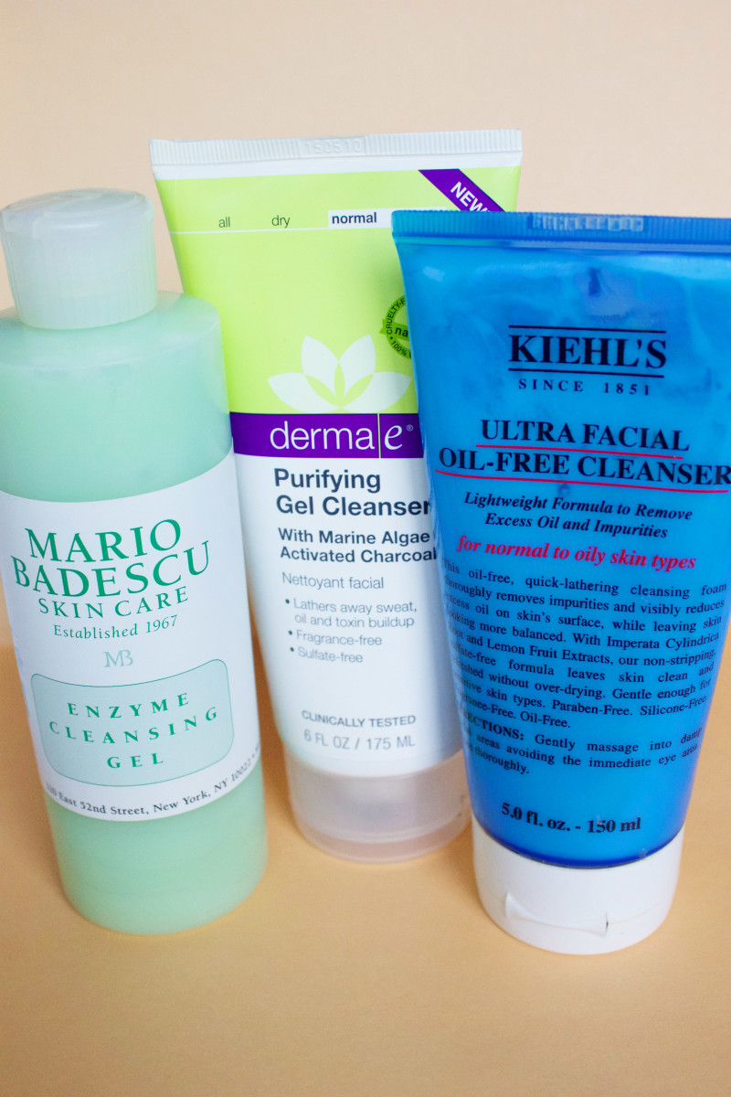 Oily skin cleansers