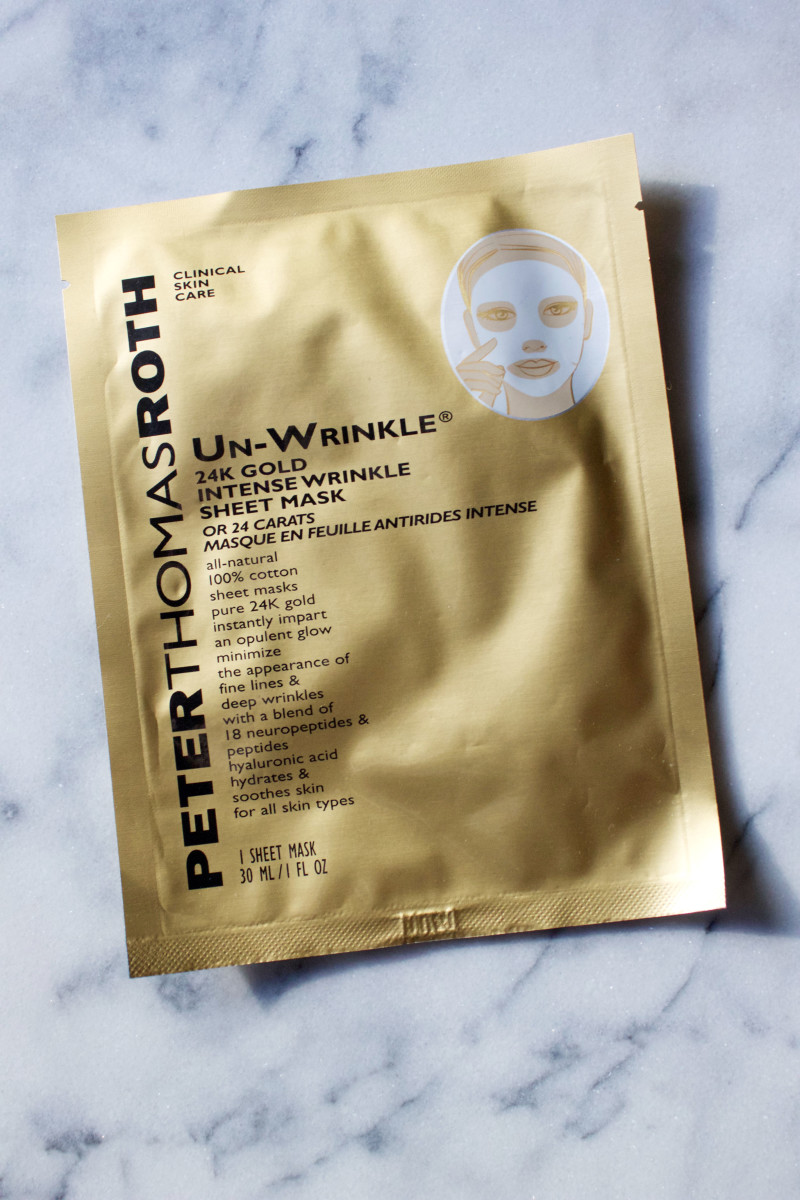 Peter Thomas Roth Un-Wrinkle 24k Gold Intense Wrinkle Sheet Mask