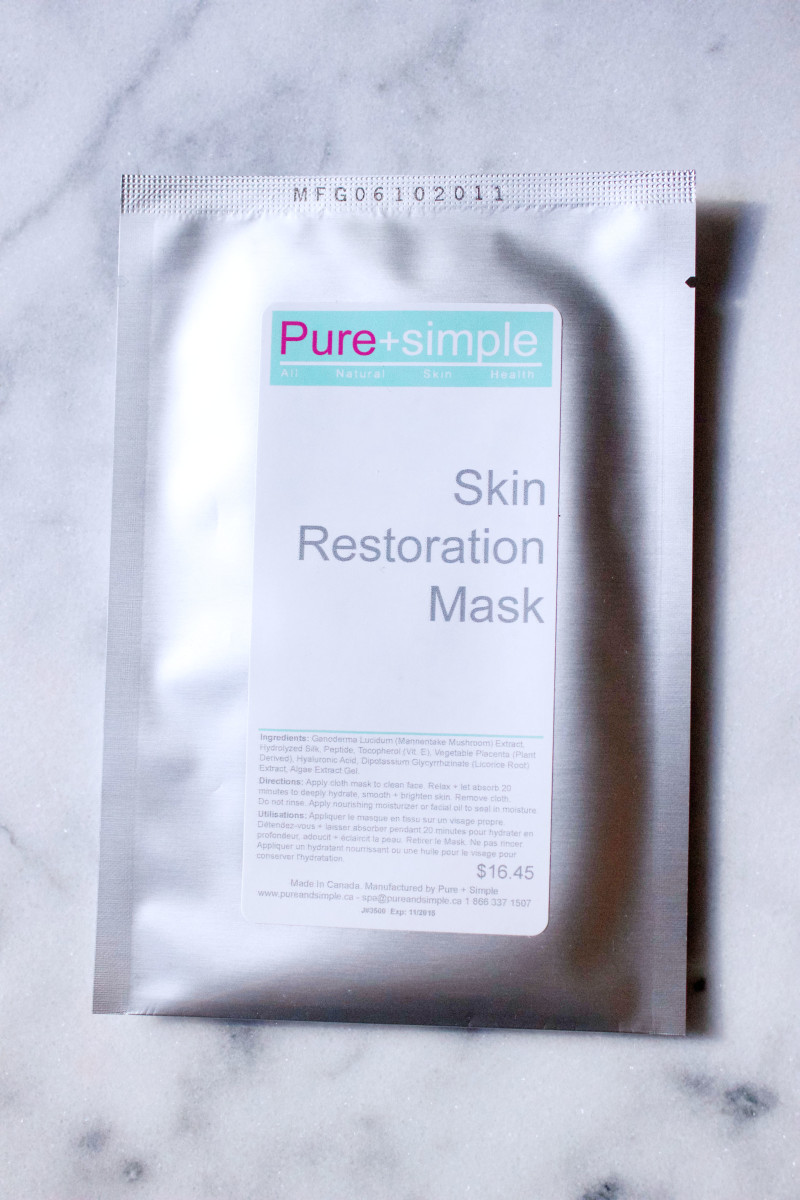 Pure and Simple Skin Restoration Mask