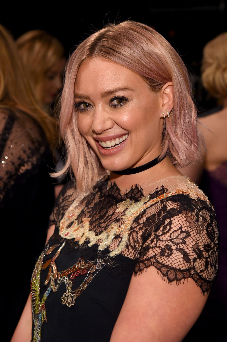 Hilary Duff, Monique Lhuillier show, 2016