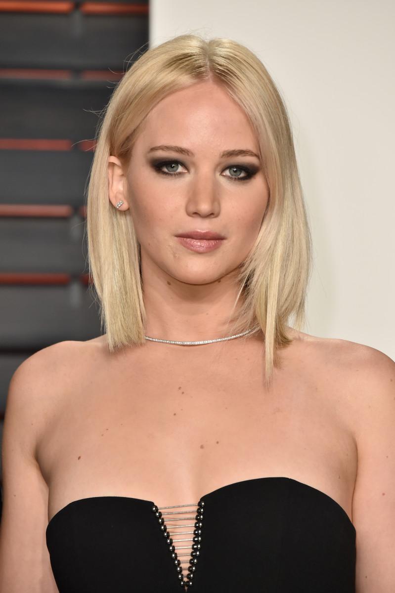 Jennifer Lawrence, Vanity Fair Oscar party, 2016