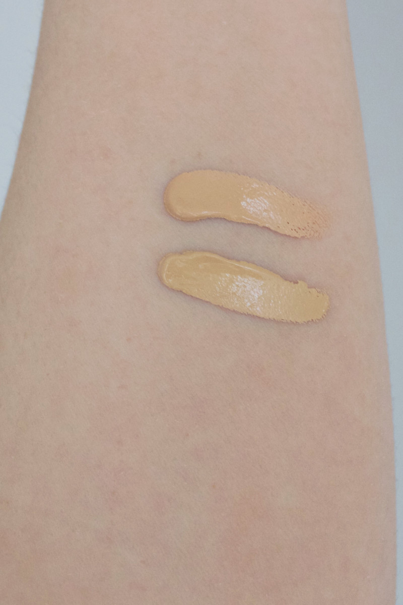 Saint Cosmetics Liquid Foundation swatches