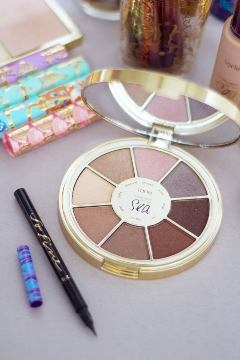 Tarte Rainforest of the Sea Eyeshadow Palette and So Fine Micro Liner