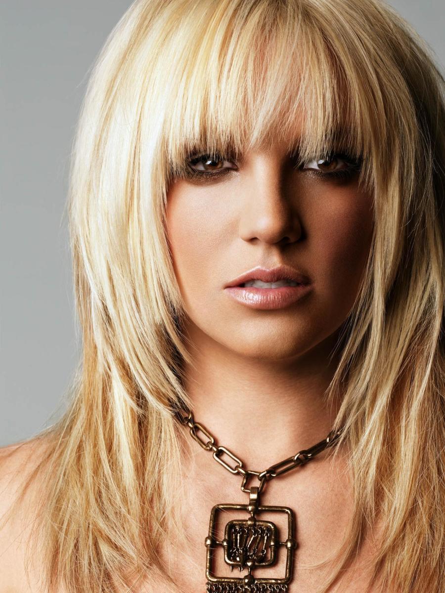 Britney Spears blonde shag