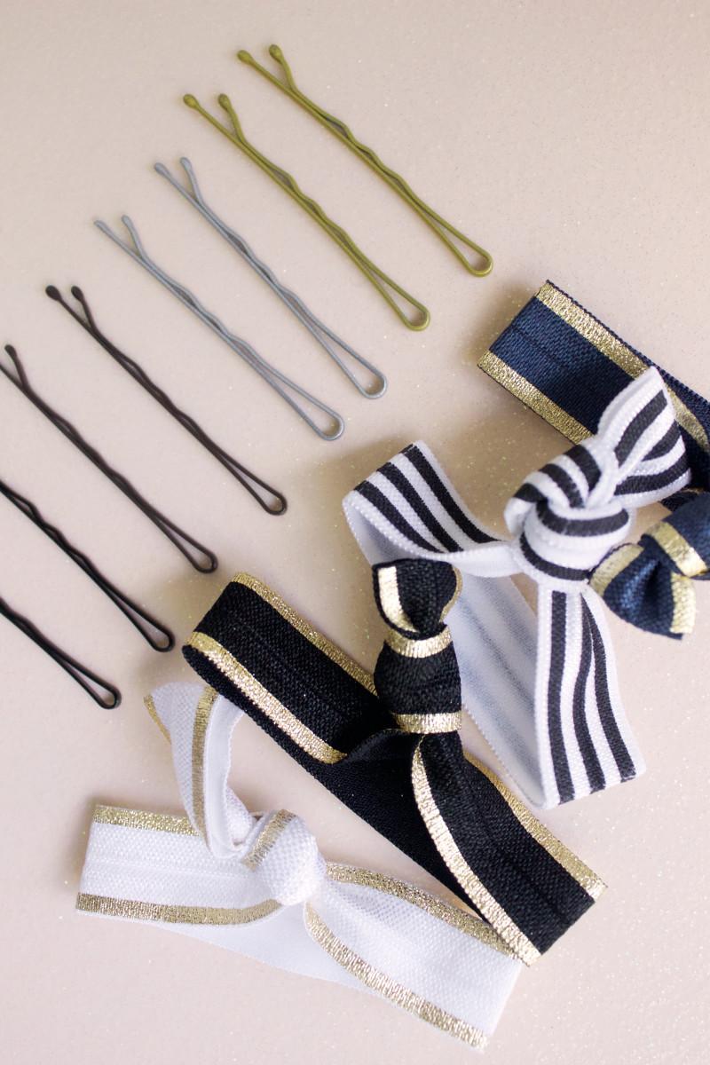 Sephora Ribbon Hair Ties and Bobby Pins