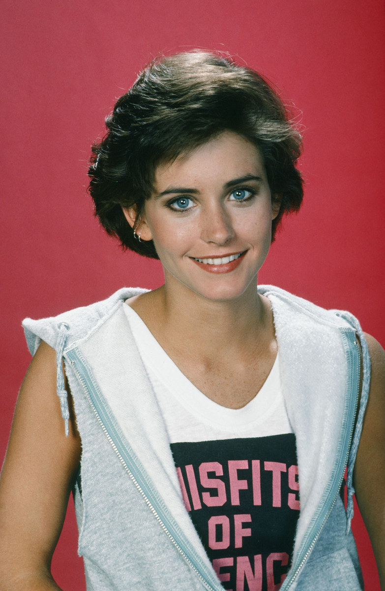 Courtney Cox, Misfits of Science promo still, 1985