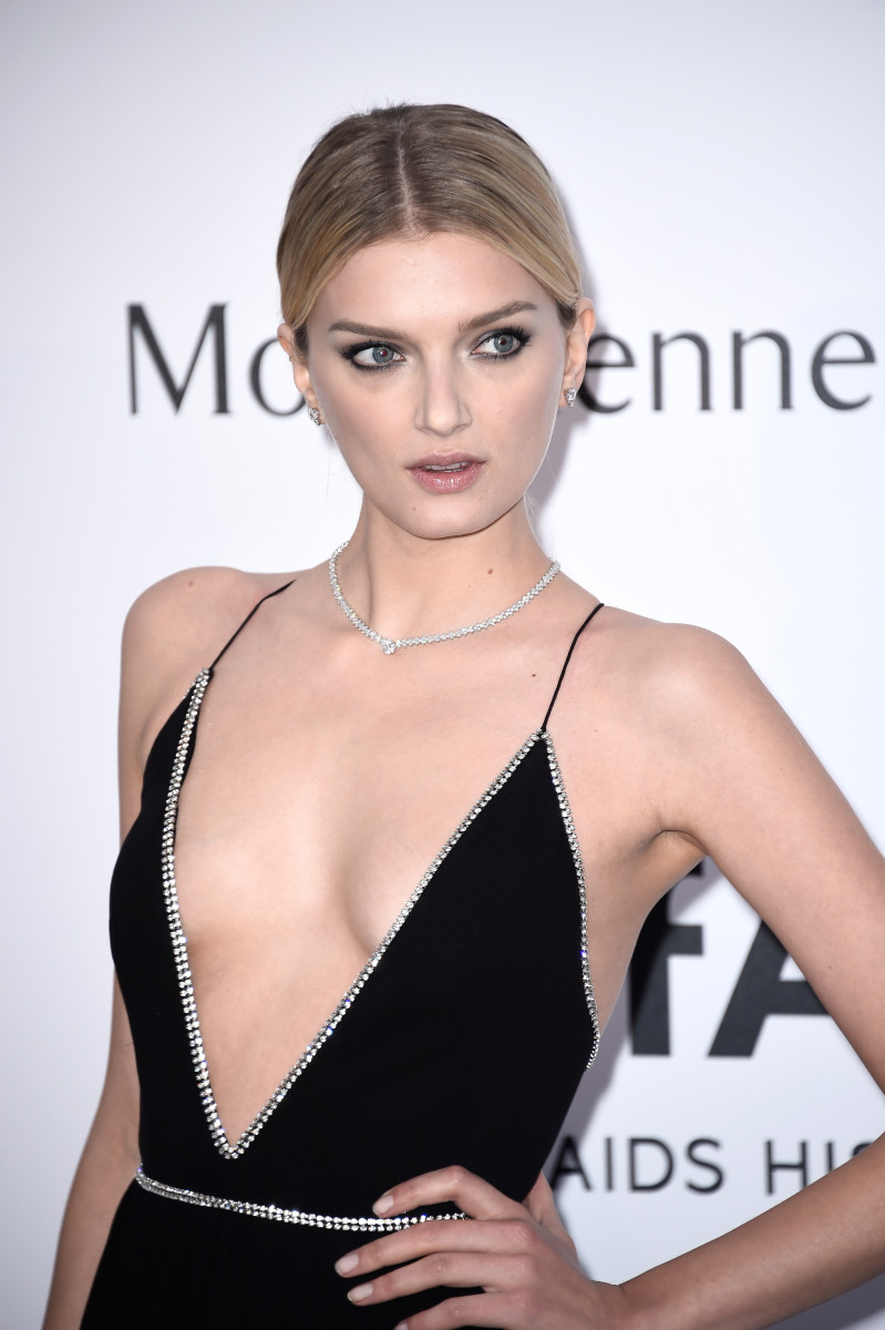 Lily Donaldson, amfAR Cinema Against AIDS Gala, Cannes 2015