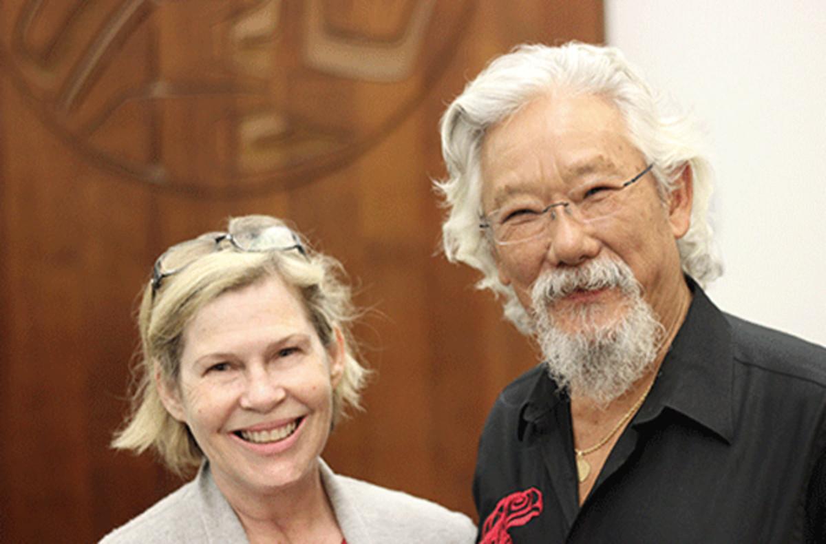 JoAnn Fowler with David Suzuki