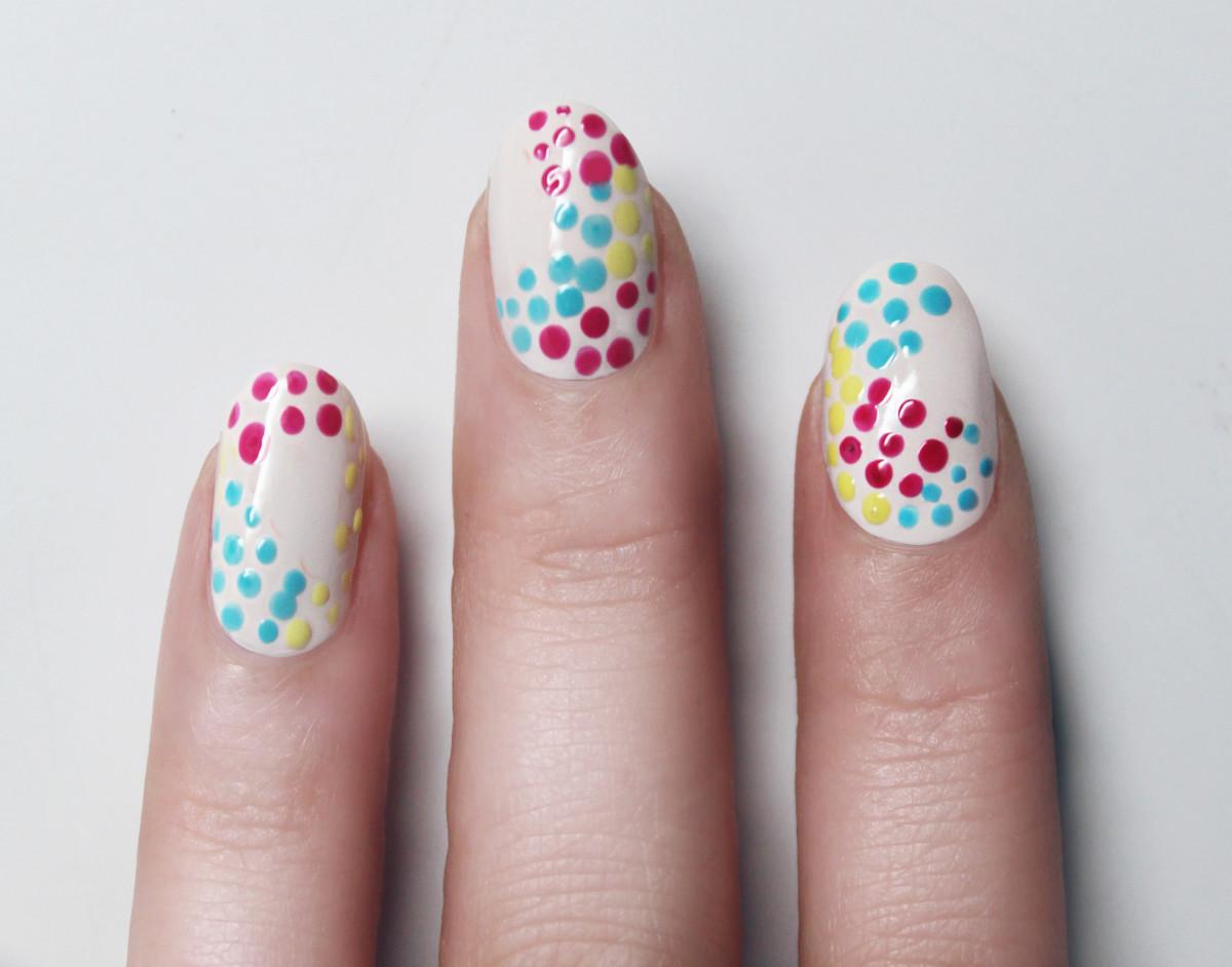Confetti manicure - step 5