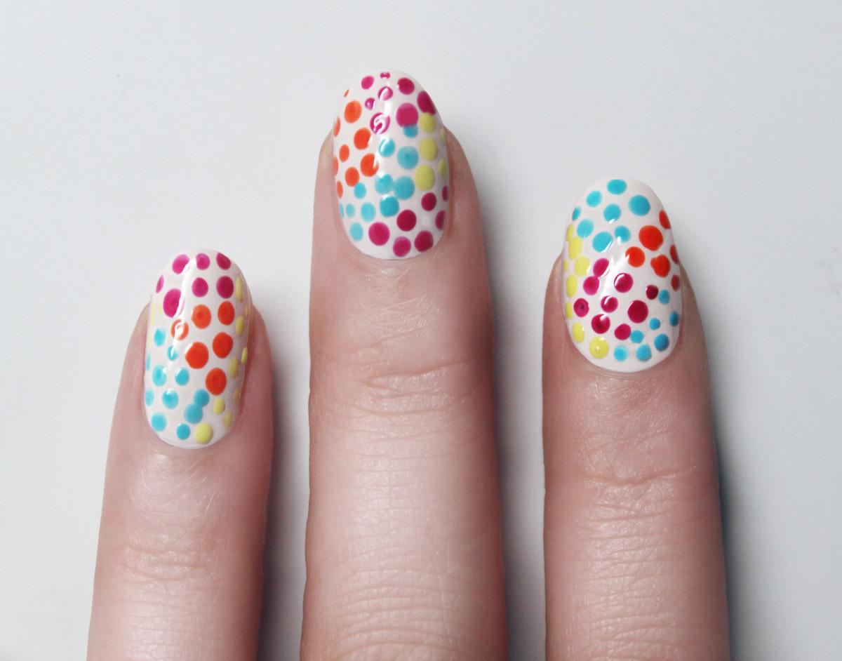 Confetti manicure - step 6