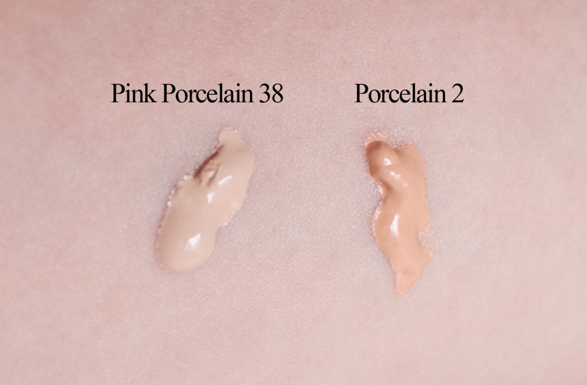 Make Up For Ever Face and Body Liquid Makeup (unblended swatches)