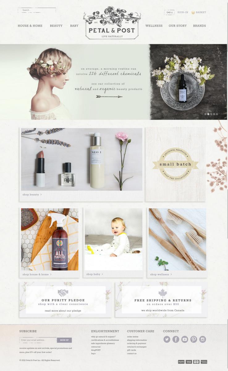 Petal and Post Home page