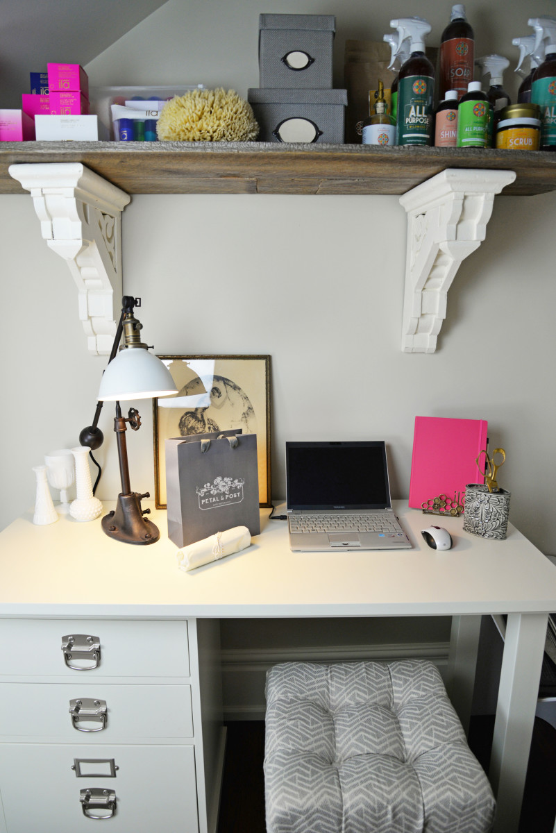 Petal and Post office desk