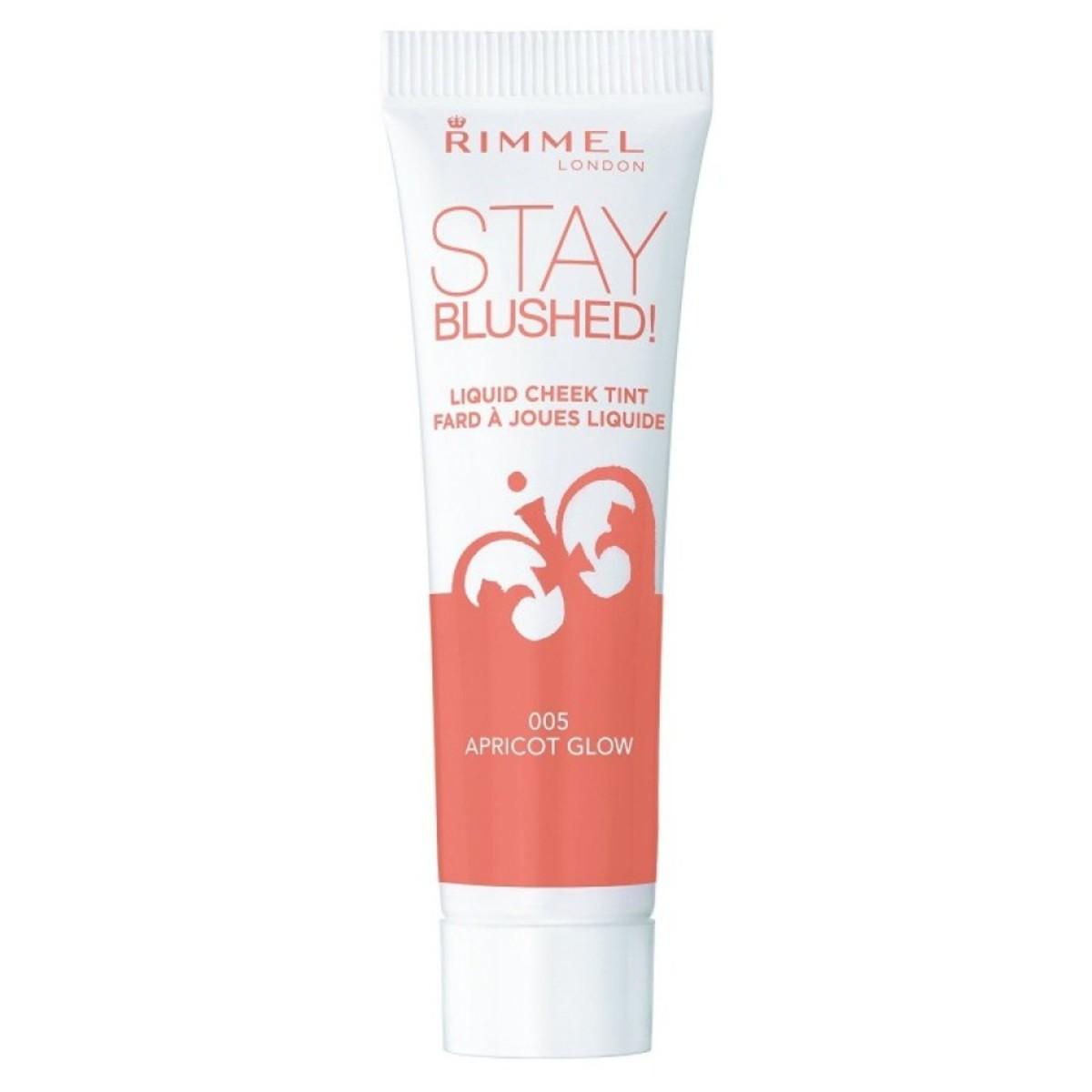 Rimmel Stay Blushed Liquid Cheek Tint in 005 Apricot Glow