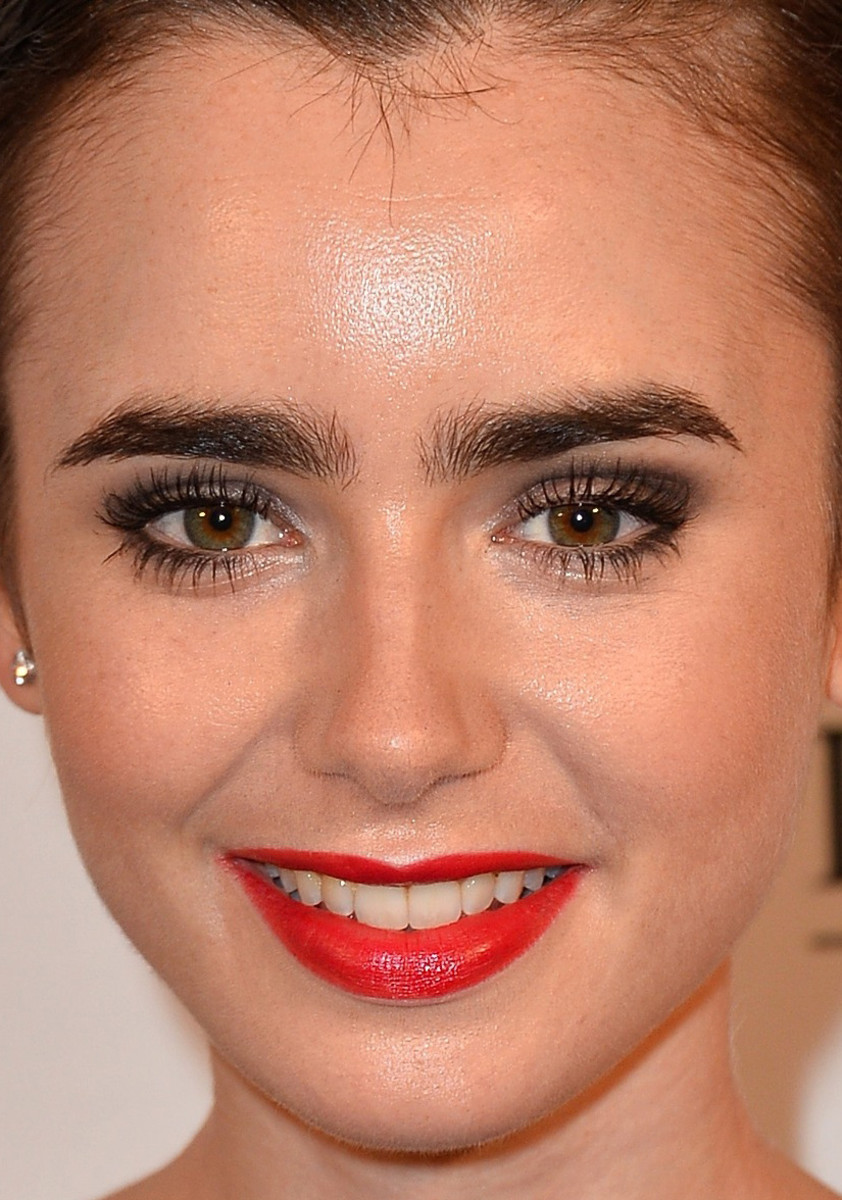 Lily Collins, Lancome 80th anniversary party, 2015