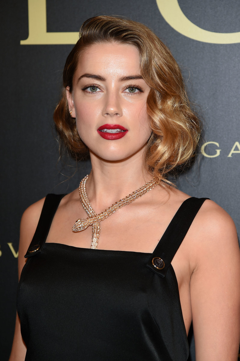 Amber Heard, Bulgari Haute Couture cocktail party, 2015