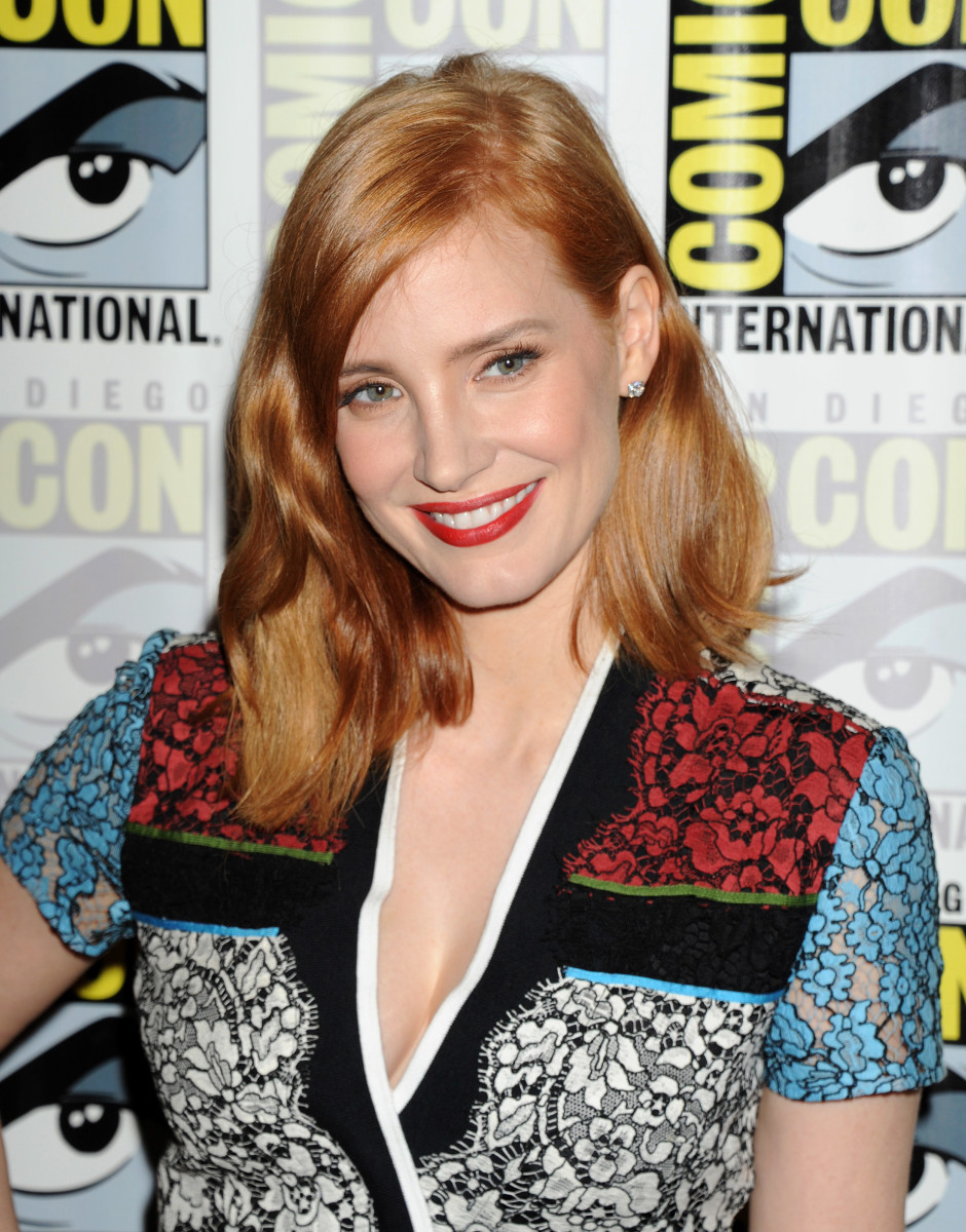 Jessica Chastain, Crimson Peak Comic-Con press line, 2015