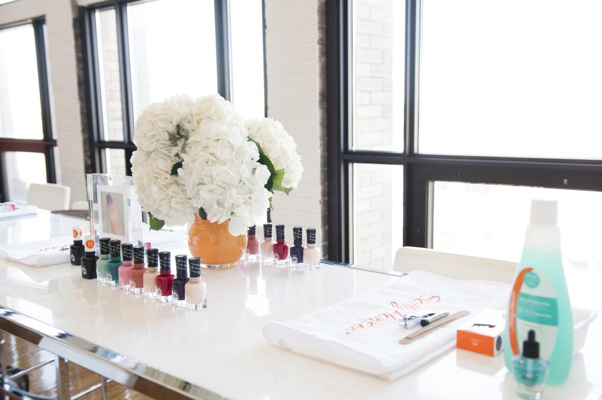 Sally Hansen manicure stations