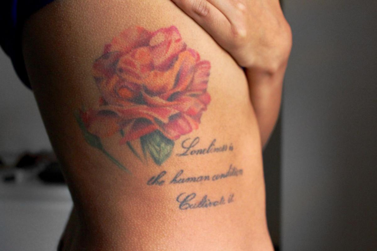 Katrina tattoo - ribcage