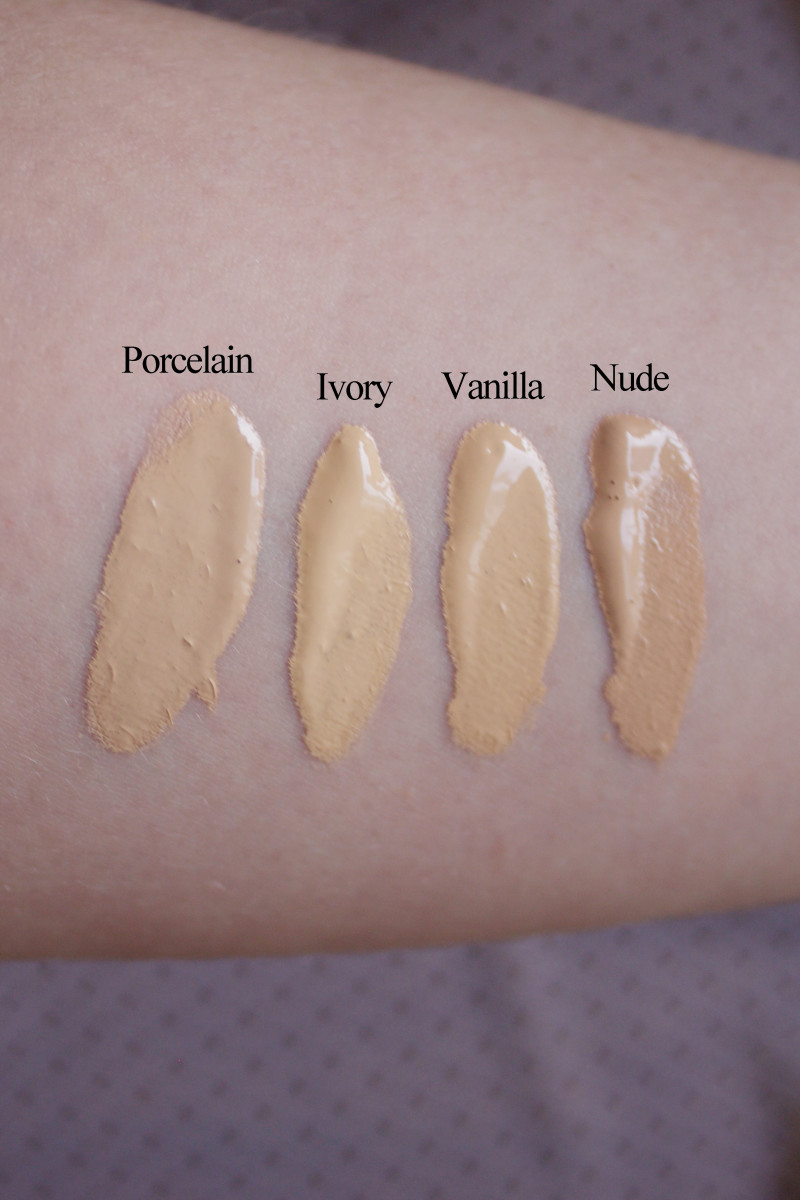 Too Faced Born This Way swatches 1-4