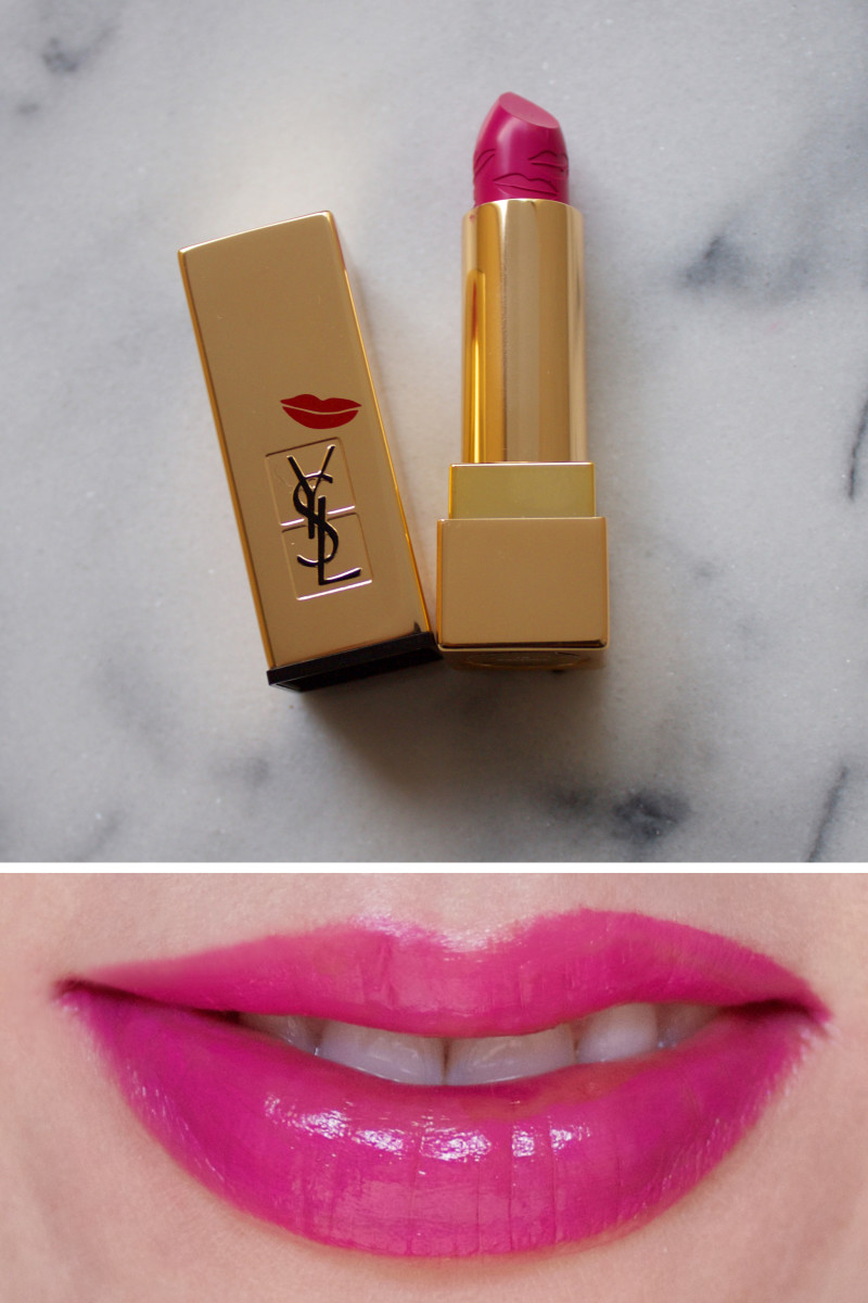 Yves Saint Laurent Rouge Pur Couture Kiss & Love Collectors Lipstick in 19 Fuchsia