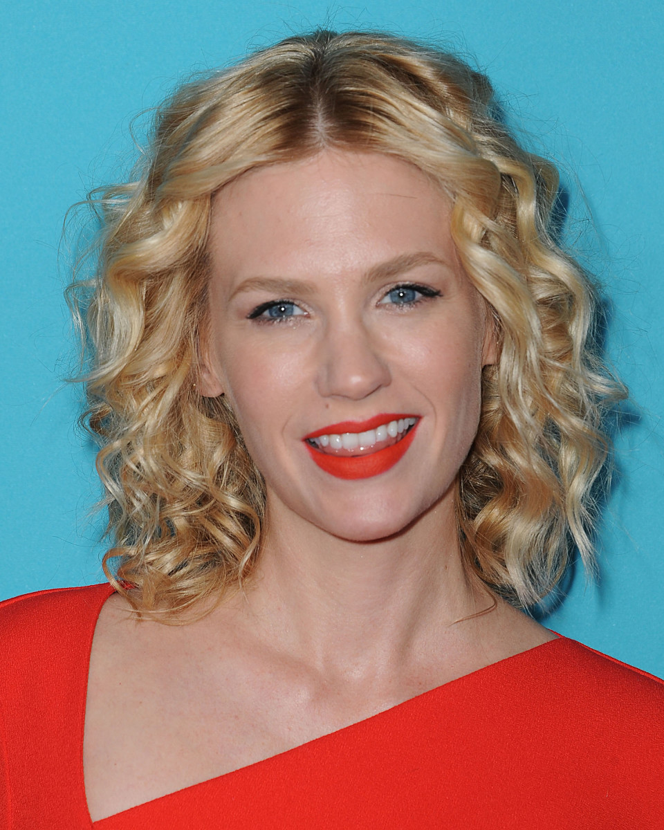 January Jones medium curly hair