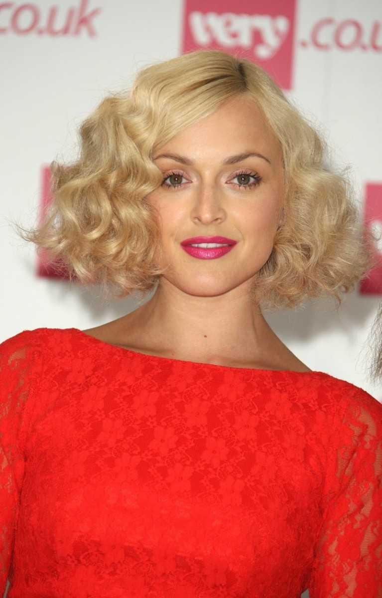 Fearne Cotton medium curly hair