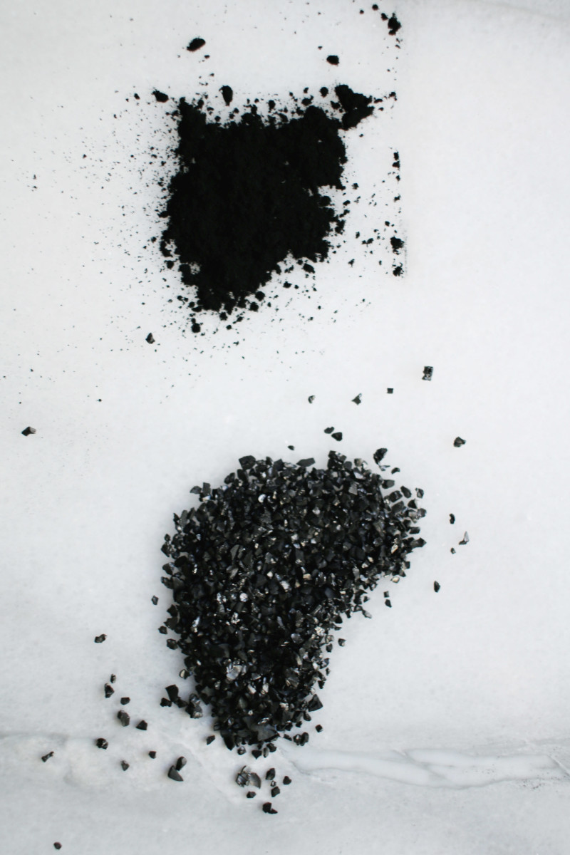Activated charcoal powders