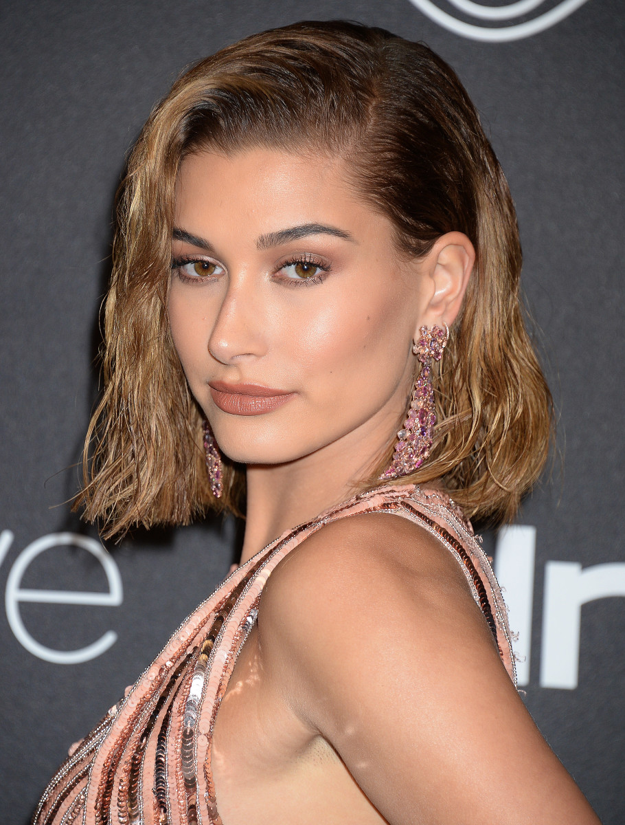 Hailey Baldwin, Warner Bros. and InStyle Golden Globes After-Party, 2017
