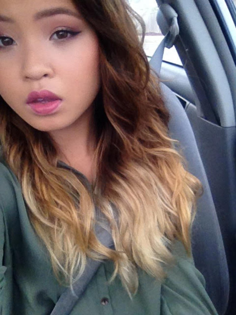 Ombre to burgundy