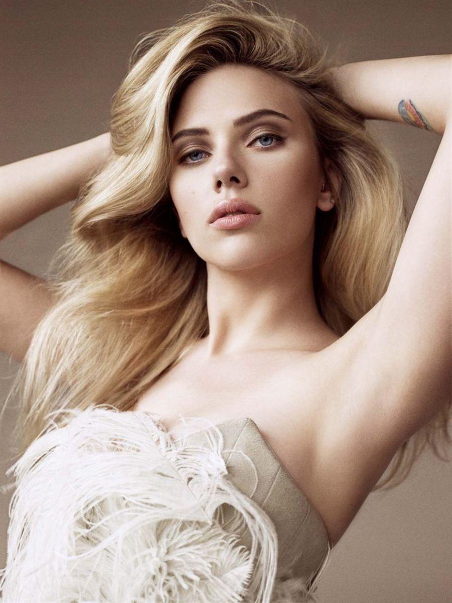 Scarlett Johansson, Allure shoot, 2009